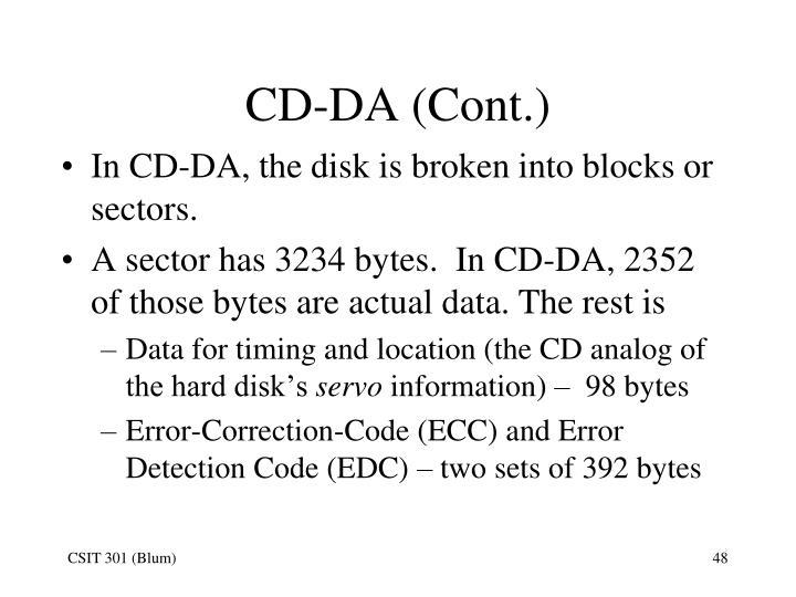 CD-DA (Cont.)