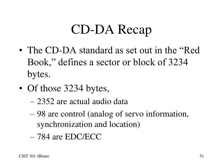 CD-DA Recap