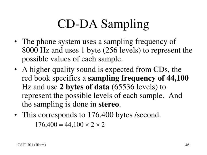 CD-DA Sampling