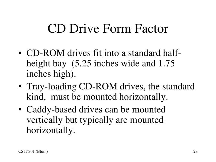 CD Drive Form Factor