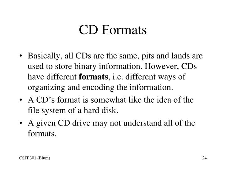 CD Formats