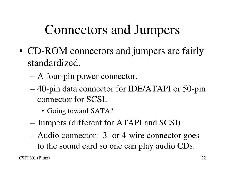 Connectors and Jumpers