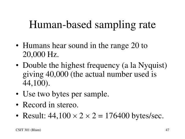 Human-based sampling rate