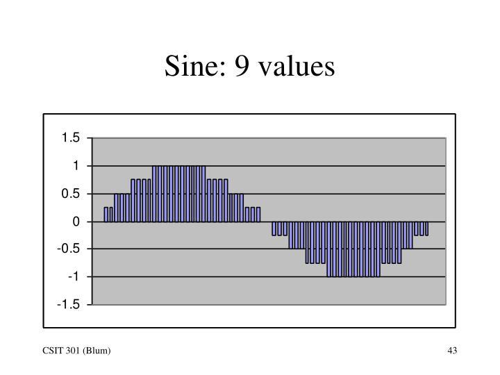Sine: 9 values