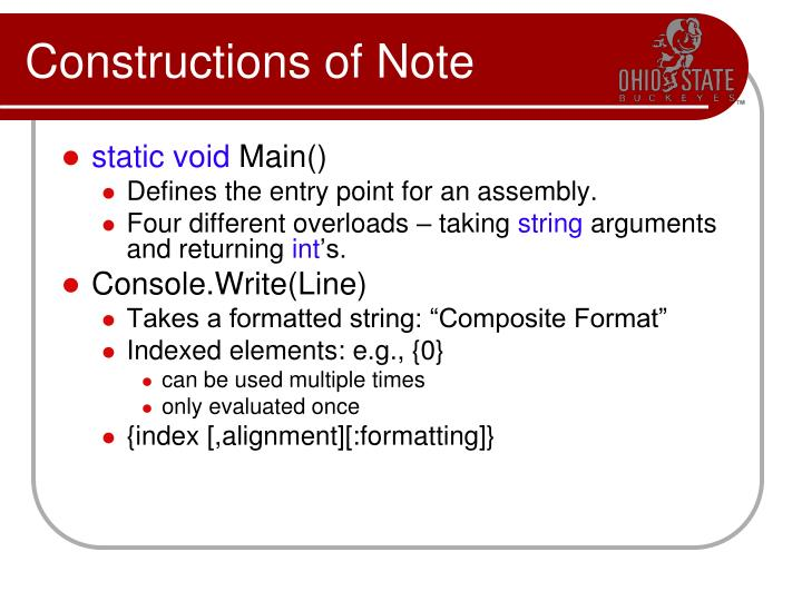 Constructions of Note