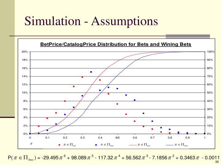 Simulation - Assumptions