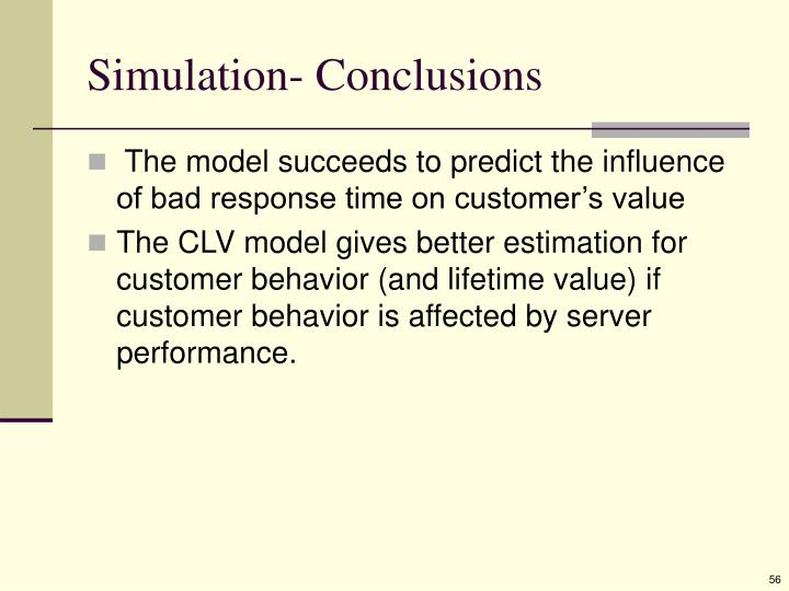 Simulation- Conclusions
