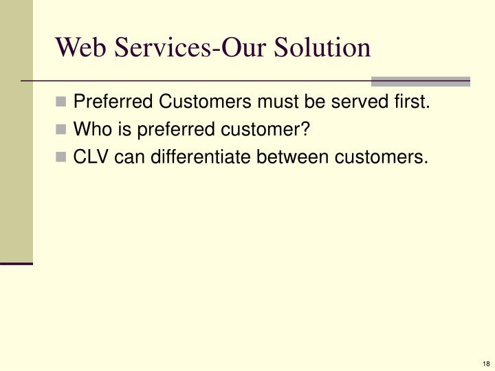 Web Services-Our Solution