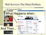 web services the main problem