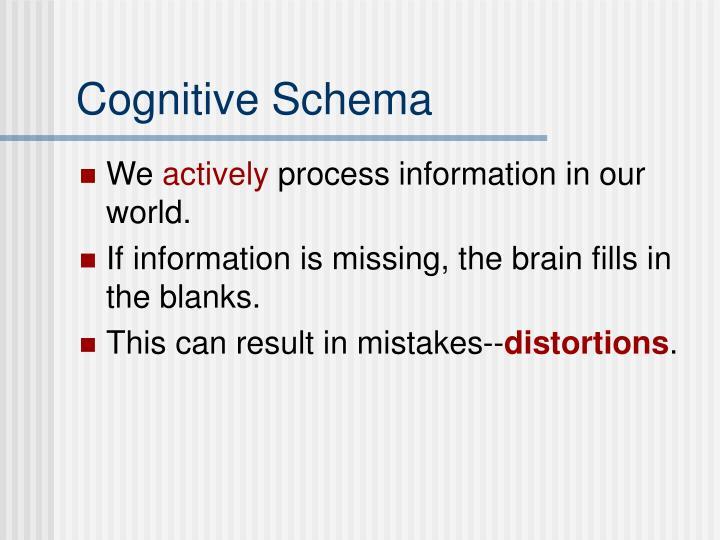 Cognitive Schema