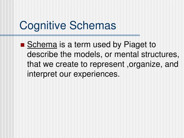 Cognitive Schemas