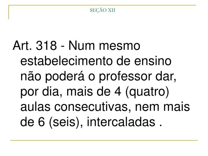 SEÇÃO XII