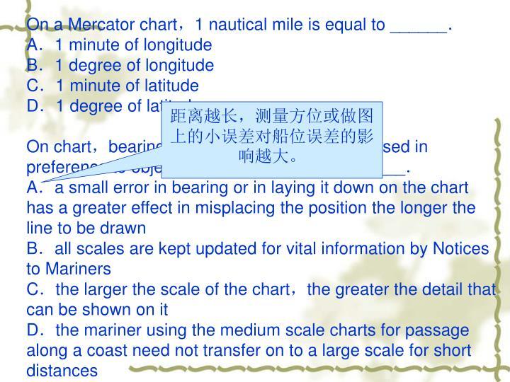 On a Mercator chart