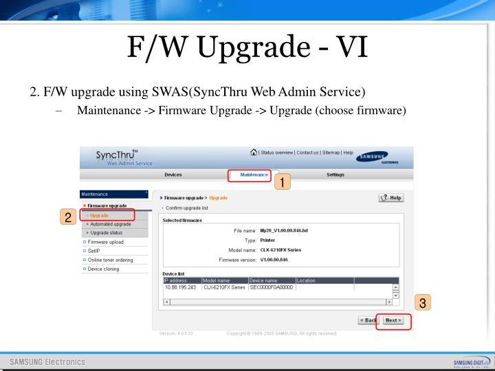 F/W Upgrade - VI