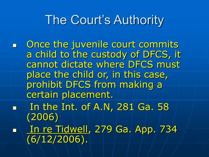 Once the juvenile court commits a child to the custody of DFCS, it cannot dictate where DFCS must place the child or, in this case, prohibit DFCS from making a certain placement.