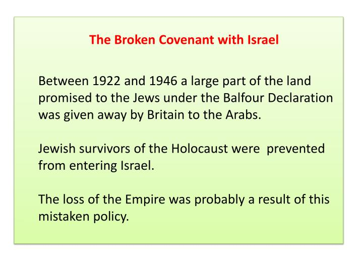 The Broken Covenant with Israel
