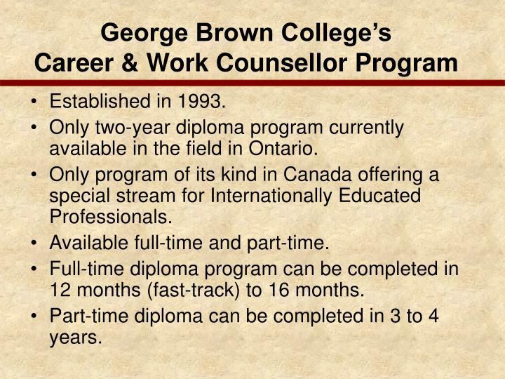 George Brown College's