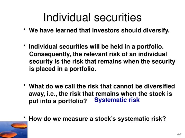Individual securities