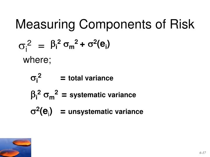 Measuring Components of Risk
