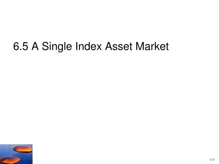 6.5 A Single Index Asset Market