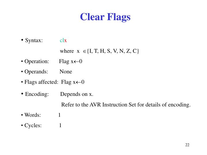 Clear Flags