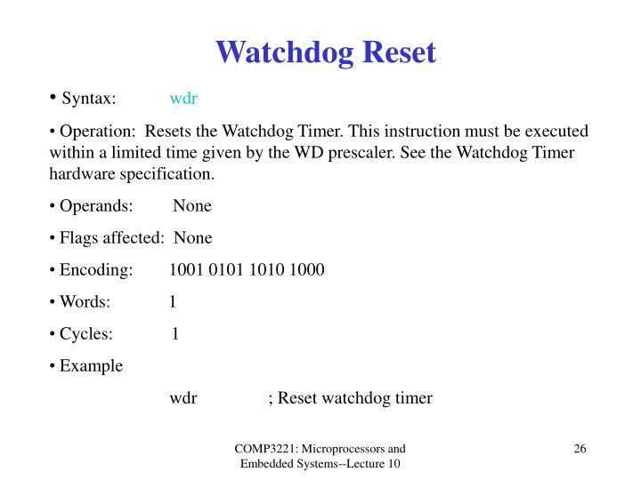 Watchdog Reset