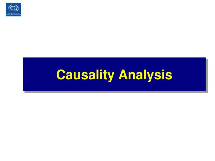 Causality Analysis