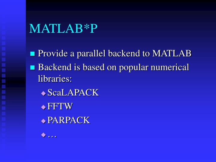 MATLAB*P
