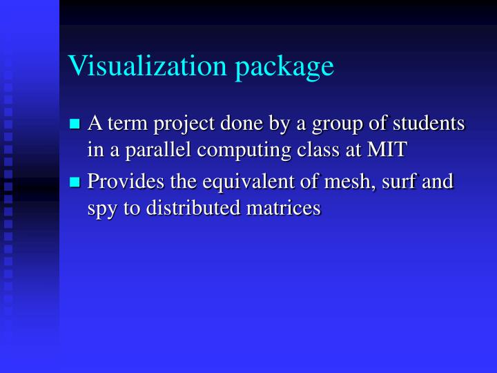 Visualization package