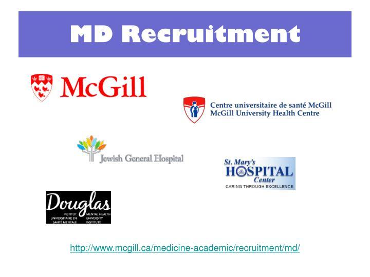 md recruitment