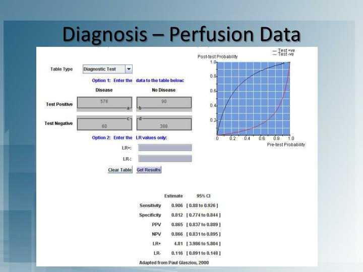Diagnosis – Perfusion Data