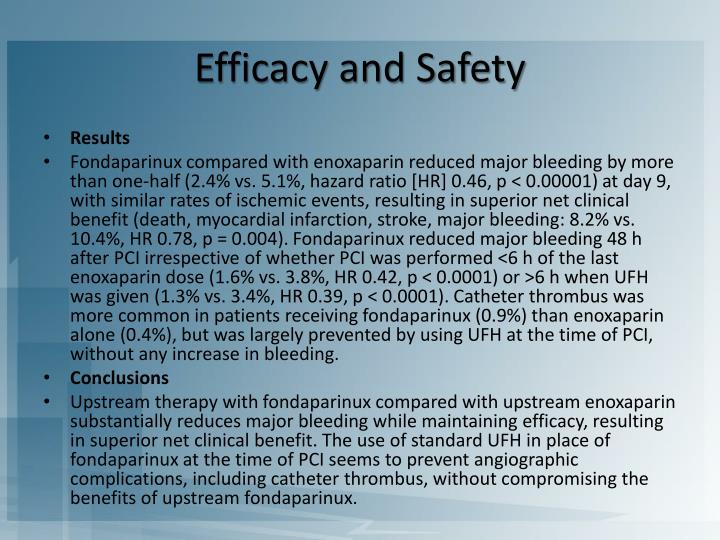 Efficacy and Safety