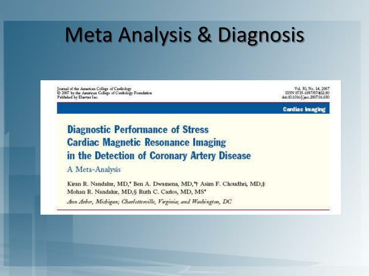 Meta Analysis & Diagnosis