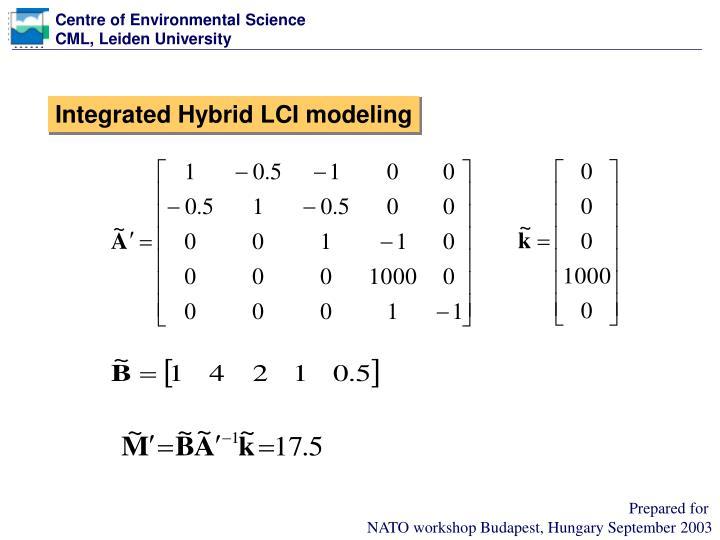Integrated Hybrid LCI modeling