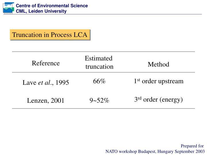 Truncation in Process LCA