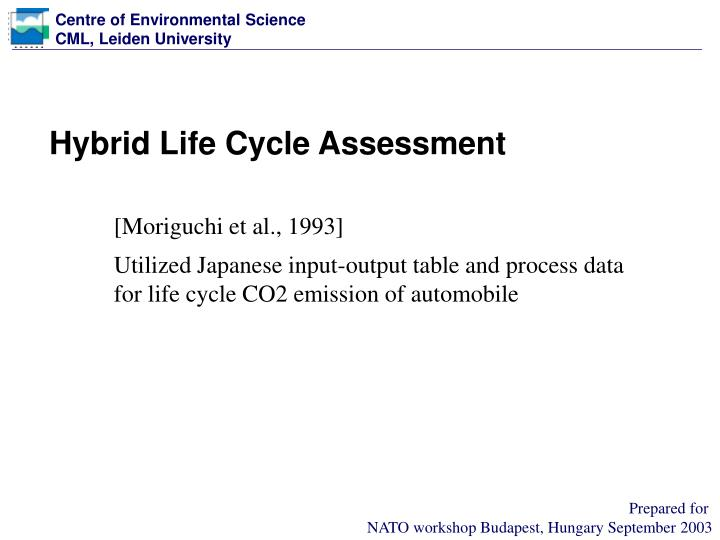 Hybrid Life Cycle Assessment