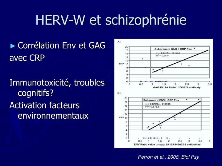 HERV-W et schizophrénie
