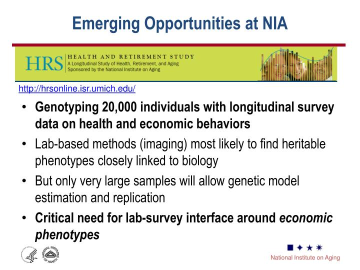 Emerging Opportunities at NIA
