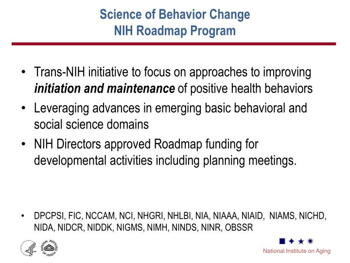 Science of Behavior Change