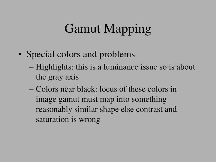 Gamut Mapping