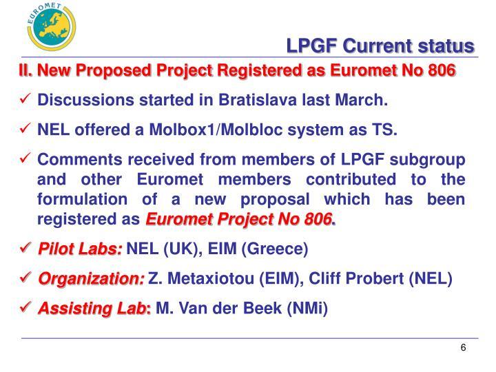LPGF Current status