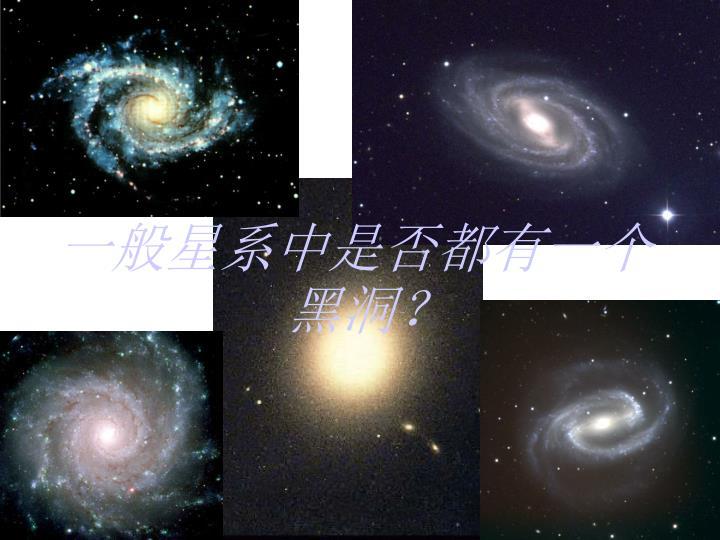 一般星系中是否都有一个黑洞?