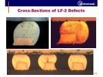 cross sections of lf 2 defects