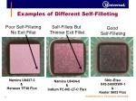examples of different self filleting