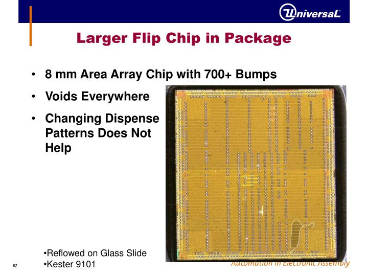 Larger Flip Chip in Package
