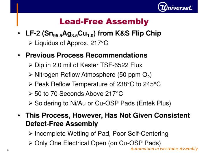 Lead-Free Assembly