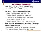 lead free assembly