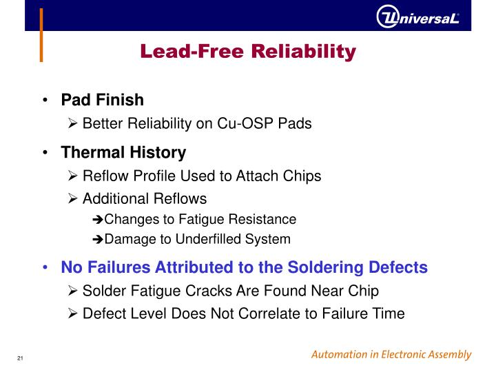 Lead-Free Reliability