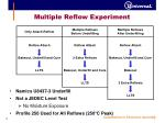 multiple reflow experiment