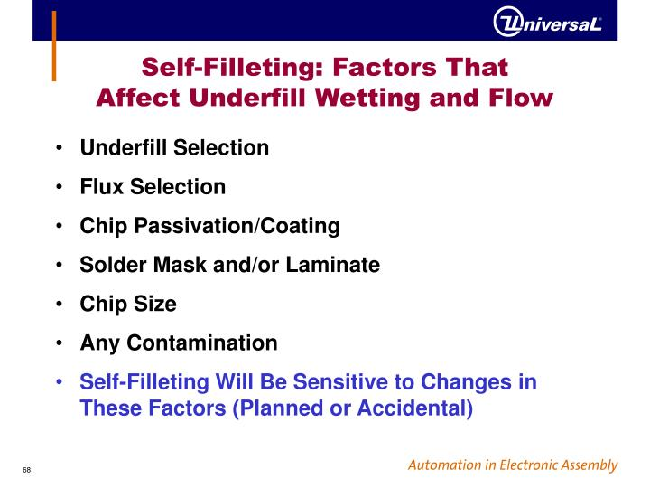 Self-Filleting: Factors That